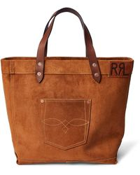 RRL Ranch Suede Tote - Brown