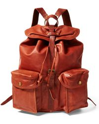 RRL - Leather Rucksack - Lyst