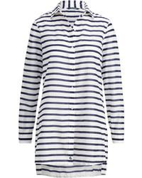 Ralph Lauren - Striped Cotton Cover-up - Lyst