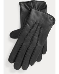 Ralph Lauren Sheepskin Tech Gloves - Black