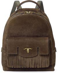 Polo Ralph Lauren Steer-head Suede Backpack - Multicolor