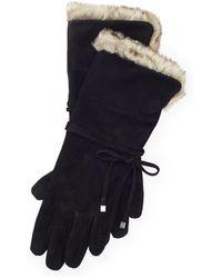 Ralph Lauren - Suede Tech Gloves - Lyst