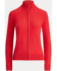 Ralph Lauren Golf Cashmere-blend Zip Golf Jumper - Red