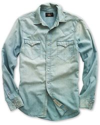 b2510aa0a0 Lyst - RRL Buffalo Western Shirt in Natural for Men