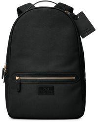 Polo Ralph Lauren Leather-trim Canvas Backpack - Black