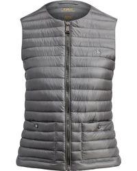 Polo Ralph Lauren Full-zip Down Vest - Gray