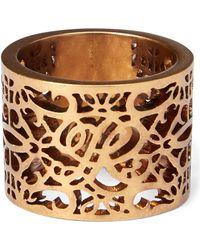 Ralph Lauren - Gold-plated Barrel Ring - Lyst
