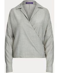 Ralph Lauren Collection Chemisier Libby en sergé de laine - Neutre