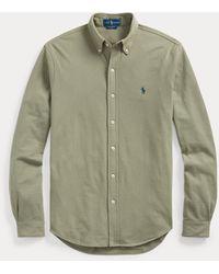Ralph Lauren Camisa De Piqué Ultraligera - Verde