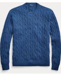 Polo Ralph Lauren Pull en cachemire torsadé - Bleu