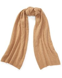 b68b252890b Polo Ralph Lauren - Cable Wool-cashmere Scarf - Lyst