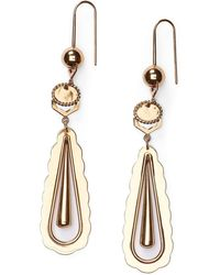 Ralph Lauren - Scalloped-edge Drop Earring - Lyst