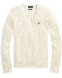 Polo Ralph Lauren - Cable V-neck Sweater - Lyst