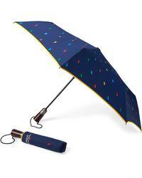 Ralph Lauren Polo Pony Collapsible Umbrella - Blue