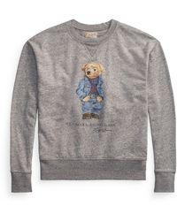 Ralph Lauren Polo Bear Fleece Sweatshirt - Gray