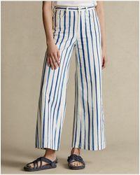 Polo Ralph Lauren Striped Wide-leg Pant - Blue