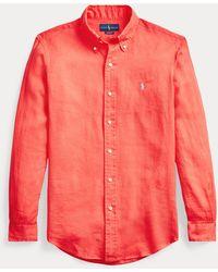 Ralph Lauren Camicia in lino Classic-Fit - Rosso