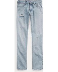 Ralph Lauren Purple Label Jeans Desgastados Slim Fit - Azul