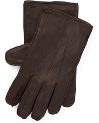 Ralph Lauren Nappa Leather Touch Gloves - Brown
