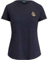 Ralph Lauren - Bullion-patch Cotton T-shirt - Lyst