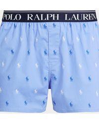 Polo Ralph Lauren Bóxer De Algodón Elástico Slim Fit - Azul