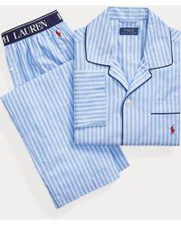 Polo Ralph Lauren Pigiama in cotone a righe - Blu