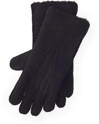 Ralph Lauren Shearling Gloves - Black