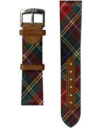 Ralph Lauren Tartan Silk Watch Strap - Multicolor