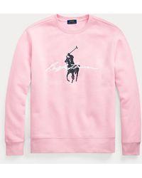 Polo Ralph Lauren Sudadera De Felpa Con Big Pony - Rosa