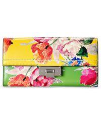 Ralph Lauren Calfskin Hinge-lock Wallet - Multicolor