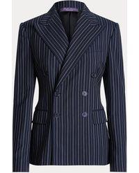 Ralph Lauren Giacca Safford in lana e cashmere - Blu