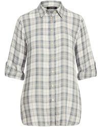 Ralph Lauren Plaid Twill Shirt - Gray