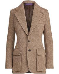 Ralph Lauren Collection Ralph Lauren Preston Wool-blend Jacket - Brown