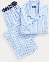 Polo Ralph Lauren Pigiama in twill di cotone - Blu