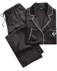 Ralph Lauren Silk Pyjama Set - Black