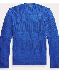 Polo Ralph Lauren Rundhalspullover aus Baumwolle - Blau