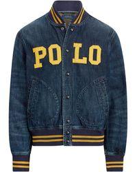 Ralph Lauren Polo Denim Baseball Jacket - Blue