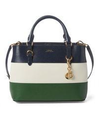 5590c5e973c Newbury Double Zipper Shopper Bag. £280. MyBag · Ralph Lauren - Leather  Color-blocked Satchel - Lyst