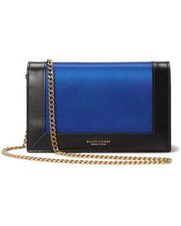 Ralph Lauren Satin-calfskin Chain Wallet - Blue