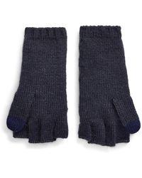 Ralph Lauren Cable-knit Pop-top Gloves - Blue