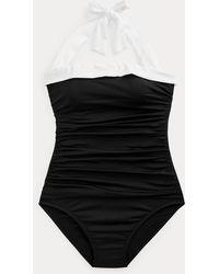 Ralph Lauren Costume intero bandeau arricciato - Nero