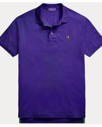 Ralph Lauren Purple Label Polo in piqué Custom Slim-Fit - Viola