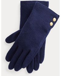 Ralph Lauren Two-button Tech Gloves - Blue