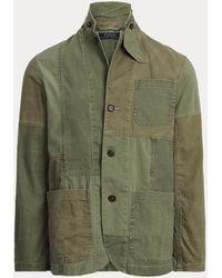 Polo Ralph Lauren Patchwork Herringbone Twill Sport Coat - Green