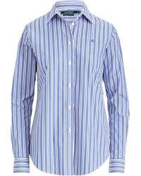 Ralph Lauren - Monogram Striped Shirt - Lyst