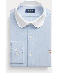 Polo Ralph Lauren Camisa Oxford Custom Fit - Azul