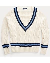 Polo Ralph Lauren Jersey De Cricket En Punto De Ochos - Azul