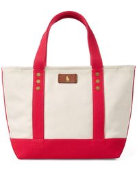 Polo Ralph Lauren - Canvas Mini Tote Bag - Lyst