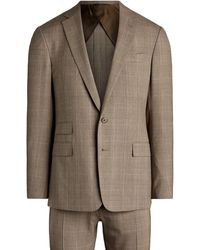 Ralph Lauren Purple Label Handmade Glen Plaid Wool Suit - Brown