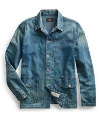 RRL - Cotton-linen Denim Overshirt - Lyst